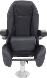 Black Label Mid Back Helm Seat with Bolster