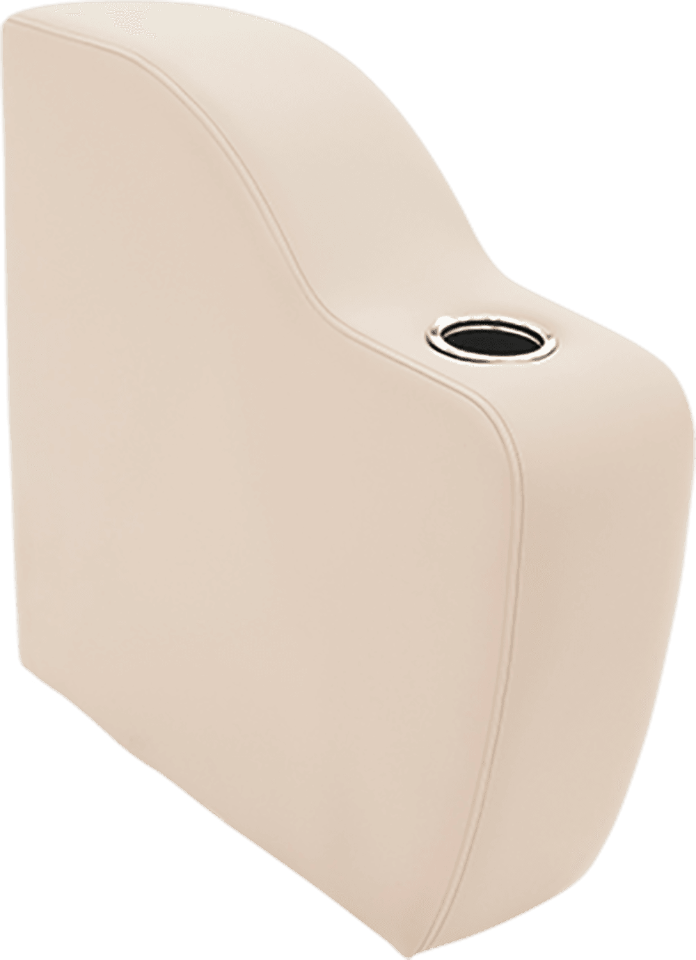 31 Inch Depth Curved Arm Beige