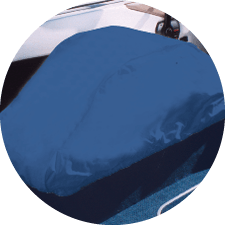 Rip//Stop Polyester Navy Taylor Made Folding Pedestal Boat Seat Cover 80220