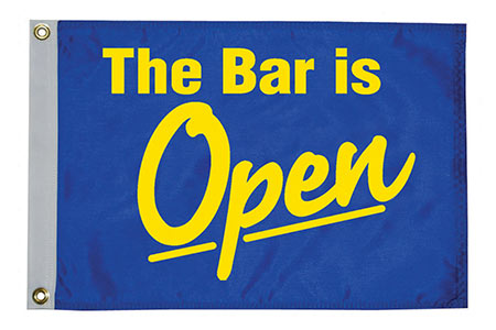 The Bar is Open Flag