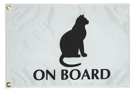 Cat on Board Flag