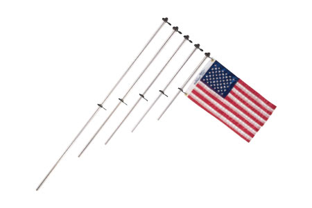 Flag Pole with Charlevoix® Flag Clips