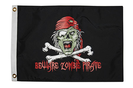 Pirate Zombie Flag