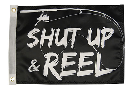 Shut Up and Reel Flag
