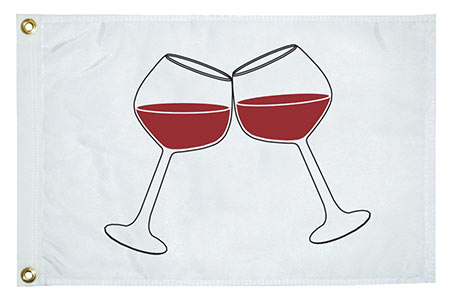 Wine Glasses Flag